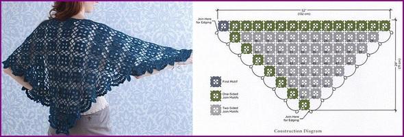 Patron Crochet Chal para Fiestas