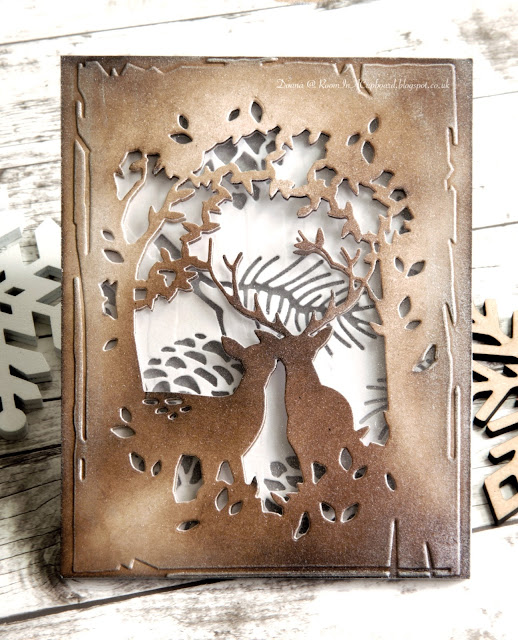Room In A Cupboard Enchanted Deer Pinecone Collage
