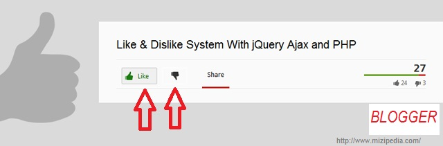 Cara  Memasang Tombol Like Dan Dislike Pada Postingan Blog