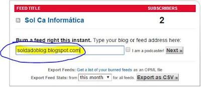 Haz suscripción por email para tu blog con feedburner