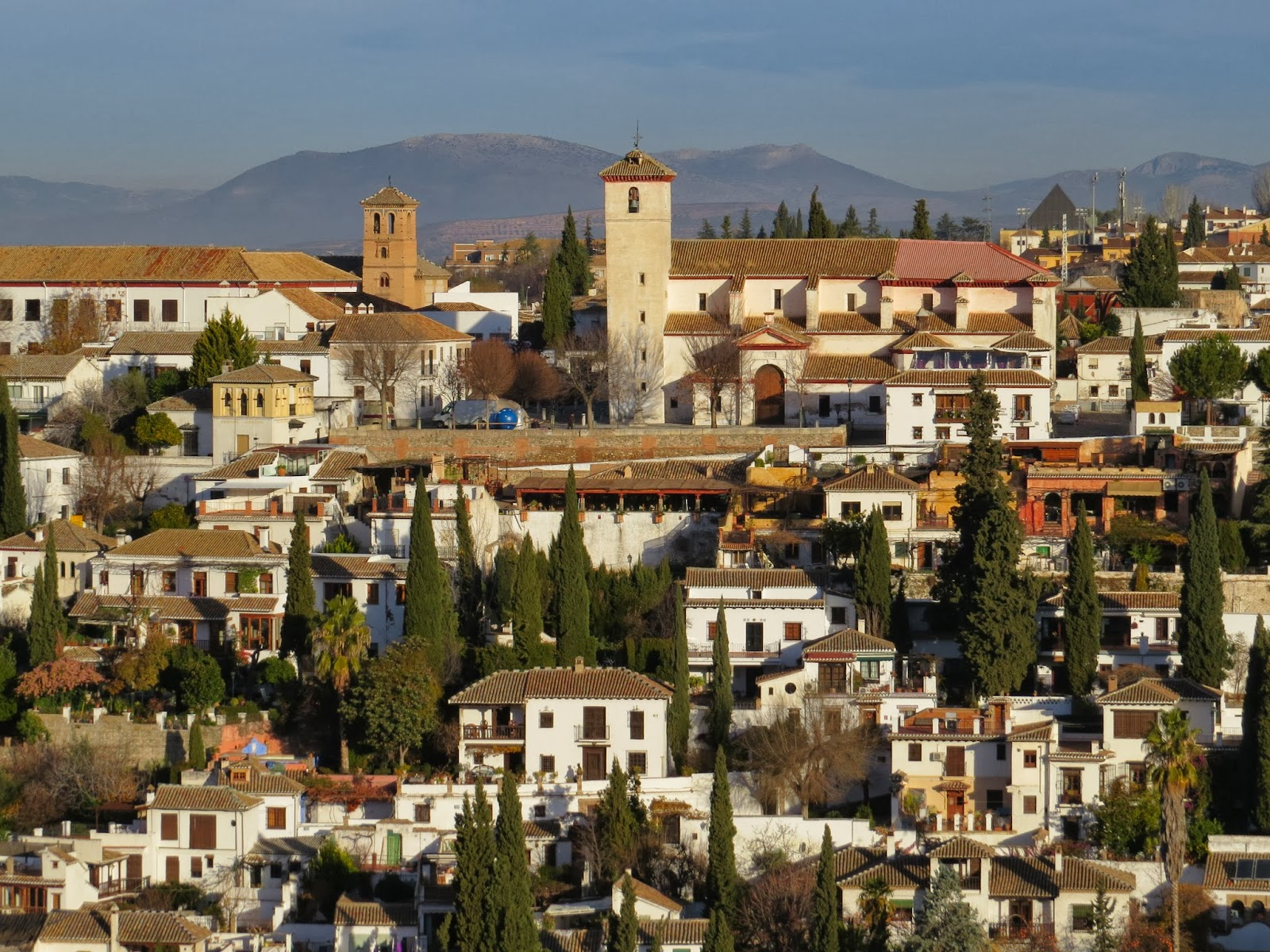Christmas in Granada - Views of Albayzin from Alcazaba