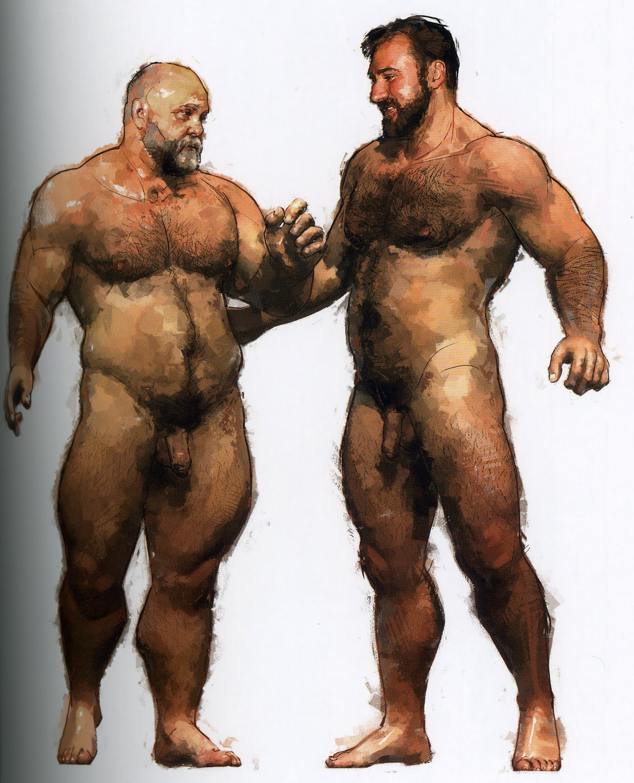 BIG LOVE SEXY BEARS IN GAY ART COMIC