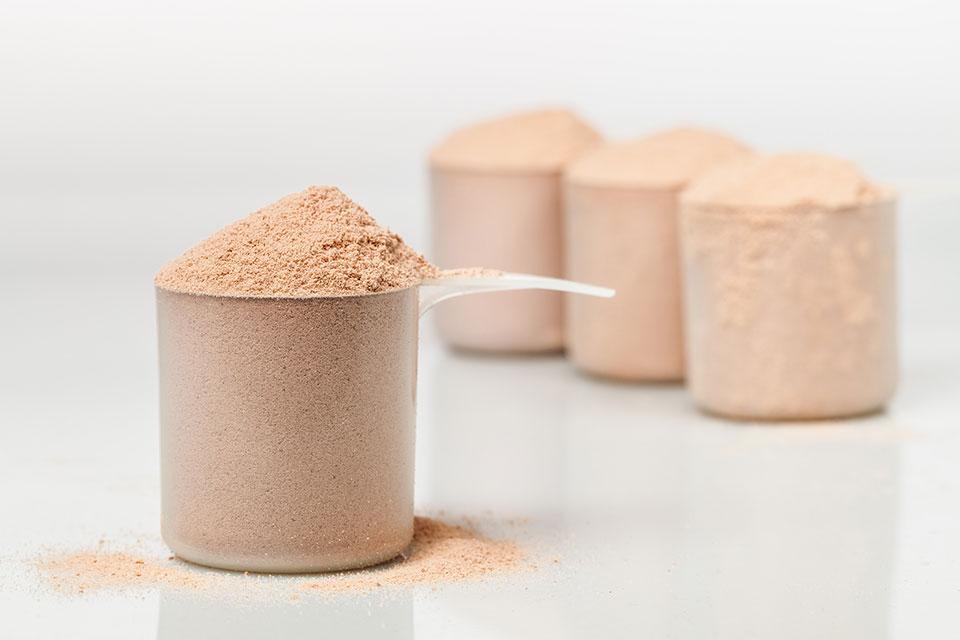 Scoop de whey protein. Foto: Reprodução