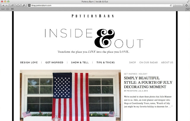 Fourth of July Pottery Barn Feature
