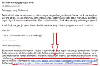 Cara Memperbaiki Blog Jika Permohonan Google Adsense Di Tolak