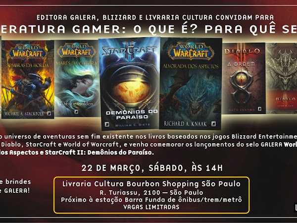 Evento da Galera Record e da Blizzard: Literatura Gamer - O que é? Para quê serve?