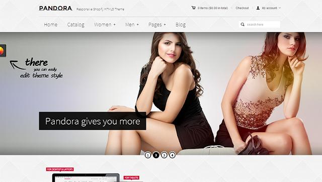 Mẫu thiết kế web bán hàng – Pandora