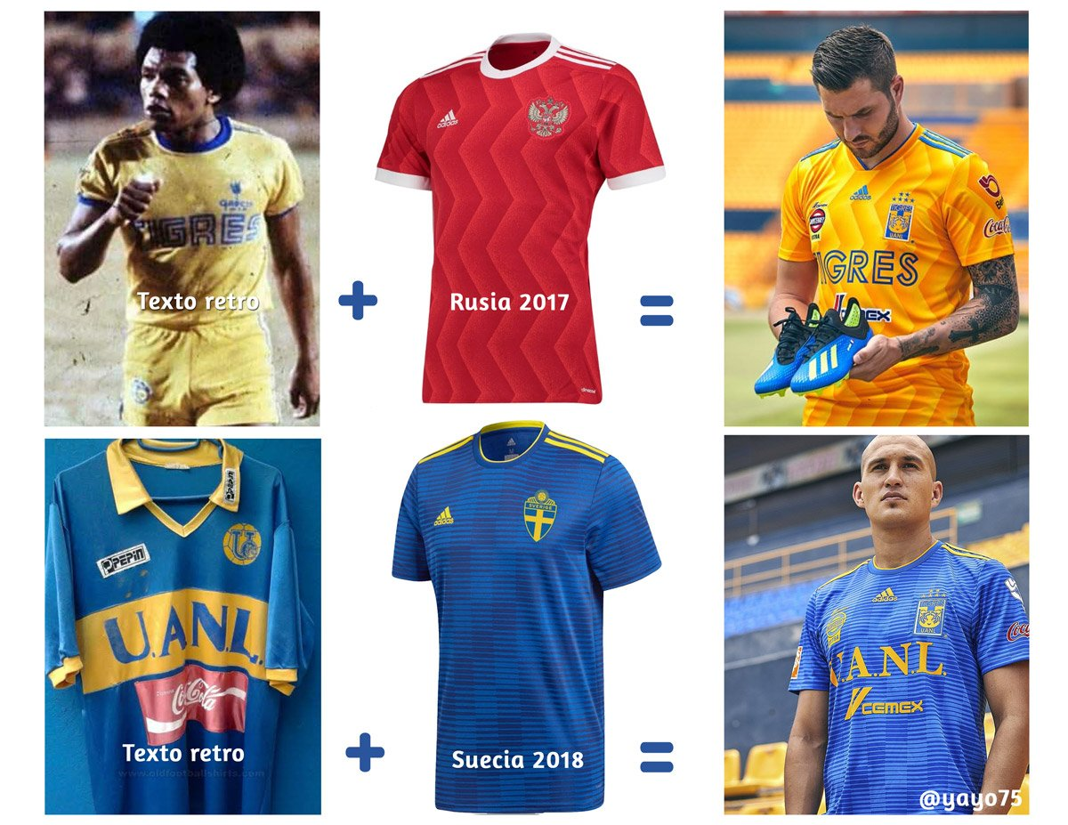 11cbf5e4a The new Tigres 2018-2019 away kit features a modern design in blue and  yellow, based on the infamous Adidas Condivo 18 template.