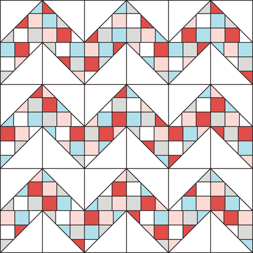 Patchwork Chevron Quilt Tutorial - In Color Order