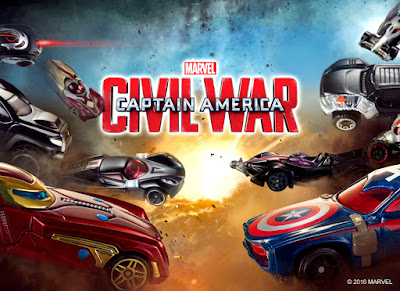 Marvel's Captain America Civil War Hot Wheels Cars Series by Mattel