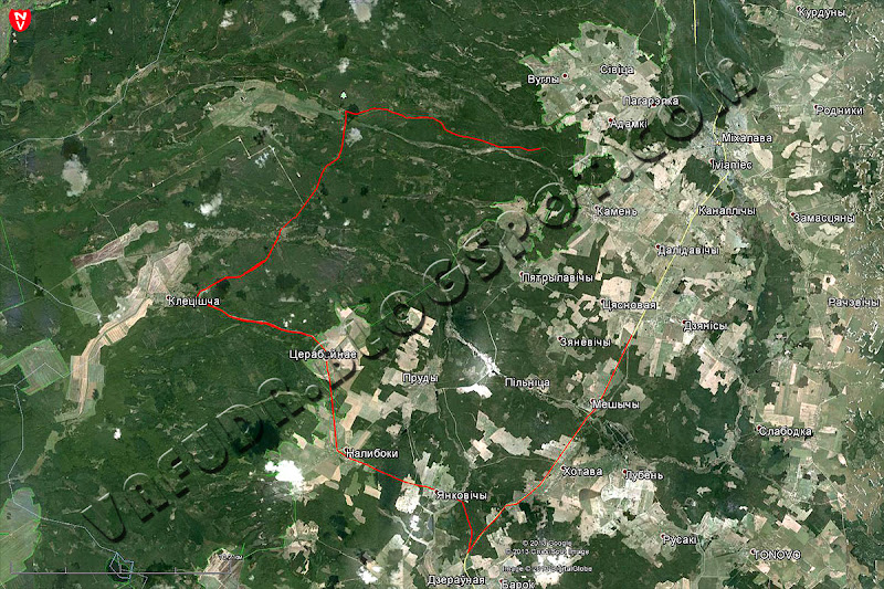 Данные с HTC Touch HD, спутниковая карта, Google Earth