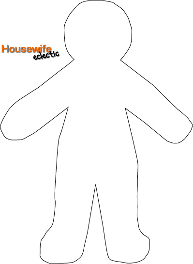 Free paper doll template halloween costumes housewife for Paper doll templates cut out