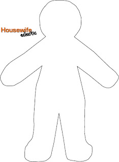 large paper doll template - housewife eclectic free paper doll template halloween