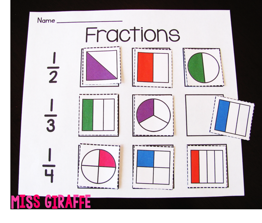Easy fractions worksheets and activities to make introducing fractions hands on and fun
