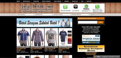 Jogja-batik.com Toko Online Grosir Batik Terpercaya