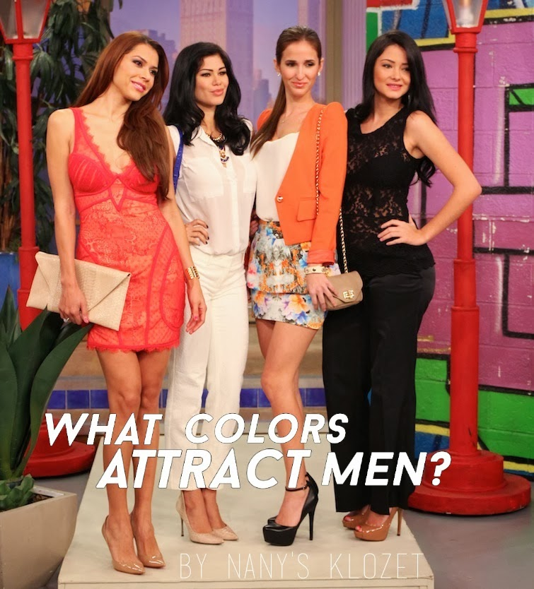 what colors attract women the most