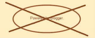 Powered By Blogger yazisini Kaldirma