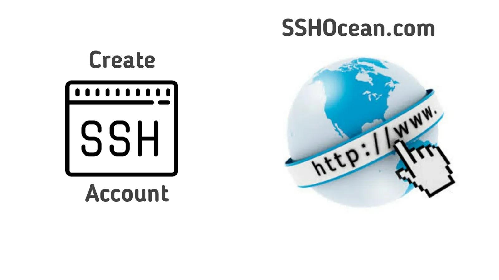 Cara Membuat Akun SSH di Situs SSHOcean