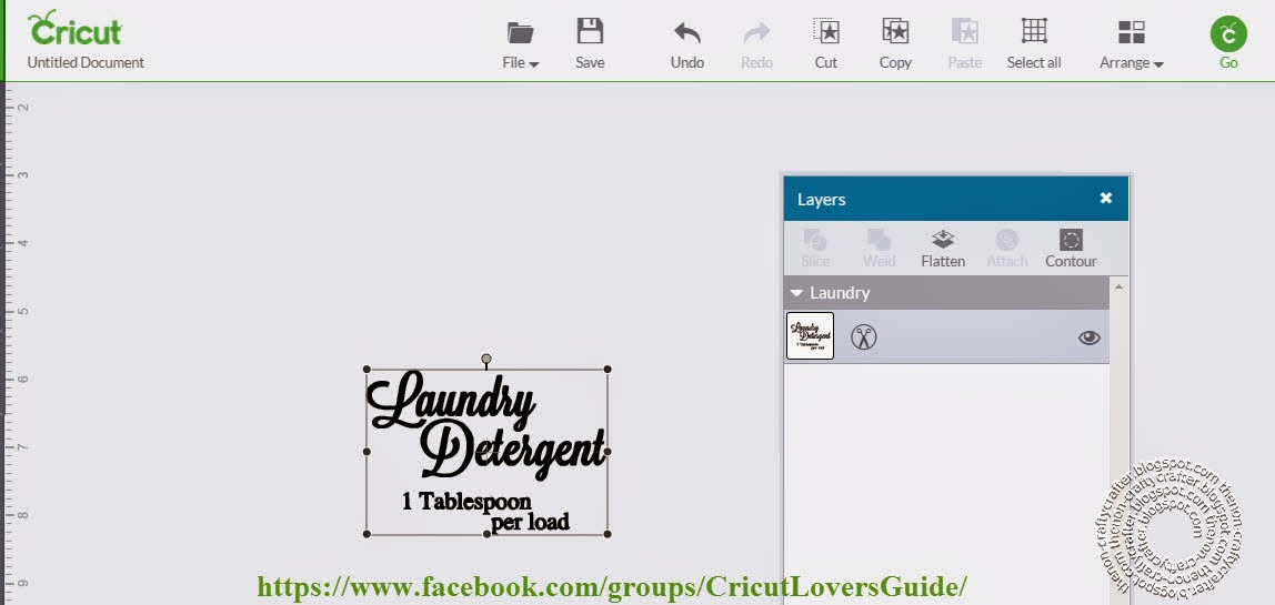 The Non-Crafty Crafter: CRICUT: Importing a JPG image into