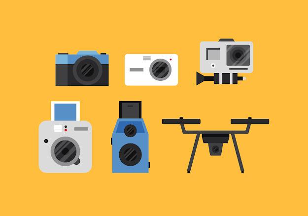 Vector Camera Camera Colorful Icons