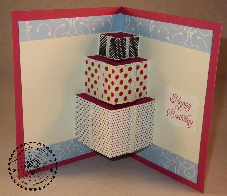 pop up karten selber basteln geburtstag verschiedene ideen f r die. Black Bedroom Furniture Sets. Home Design Ideas