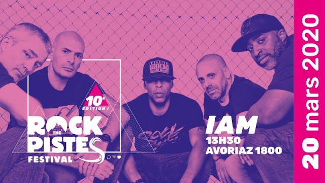 Le festival Rock The Pistes annonce IAM le 20 mars 2020.