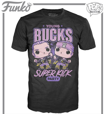 Hot Topic Exclusive Bullet Club The Young Bucks Pop! Tee T-Shirt by Funko x New Japan Pro Wrestling