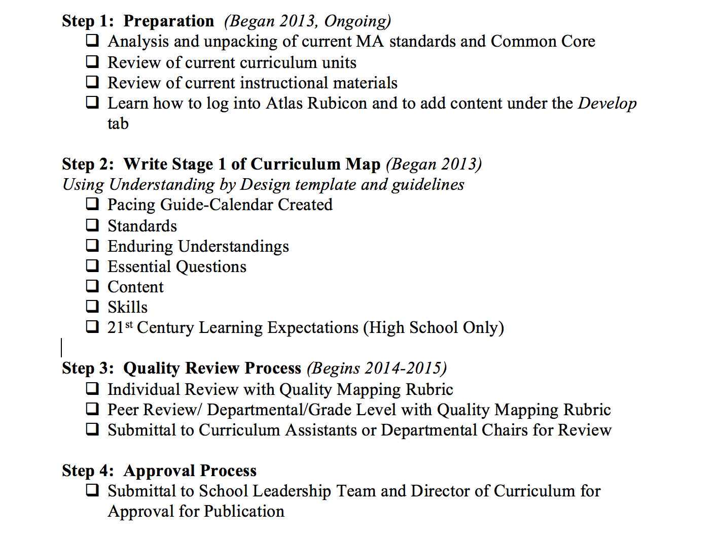 Common Core Pacing Guide Template