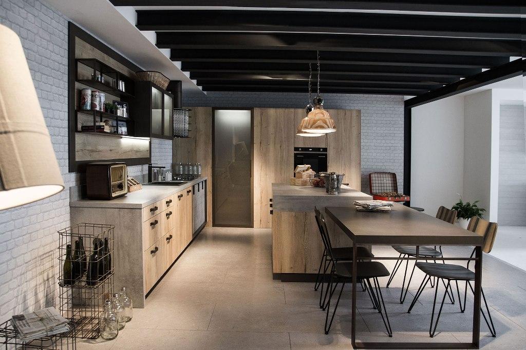 Envejecido e industrial un ambiente no convencional for Planos de cocinas industriales
