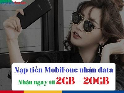 Khuyến mãi nạp tiền tặng data MobiFone ngày 12/5/2018