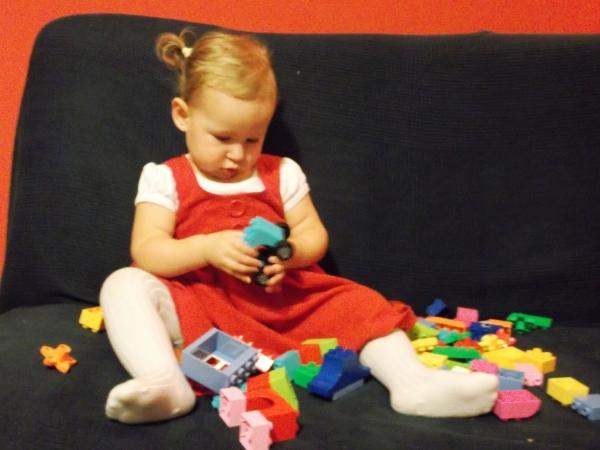 prezent na roczek dla roczniaka - klocki lego duplo