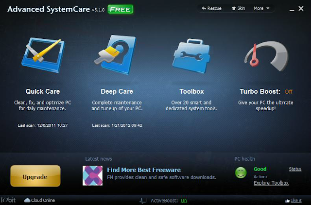 Advance System Care 5.1 with windows 8 support