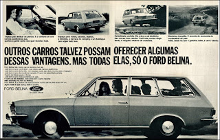 propaganda Ford Belina - 1975, Ford Willys anos 70, carro antigo Ford, década de 70, anos 70, Oswaldo Hernandez,
