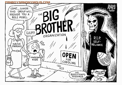 Big Brother Nanny State newspaper cartoon sketch