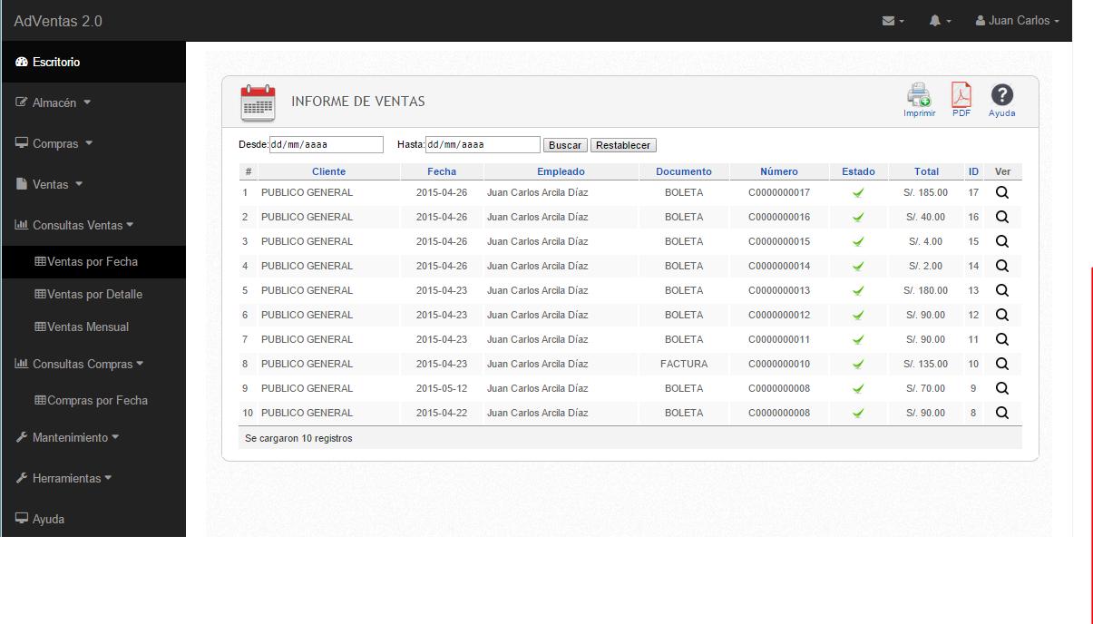 C digo sistema de ventas en php y mysql c digo de barras for Consul bootstrap