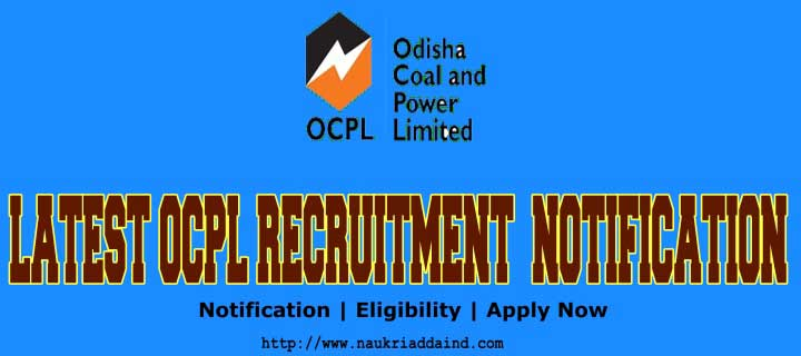 Odisha Coal and Power Limited OCPL job vacancies