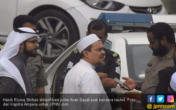 Polisi Arab Saudi Periksa Habib Rizieq soal Bendera Tauhid