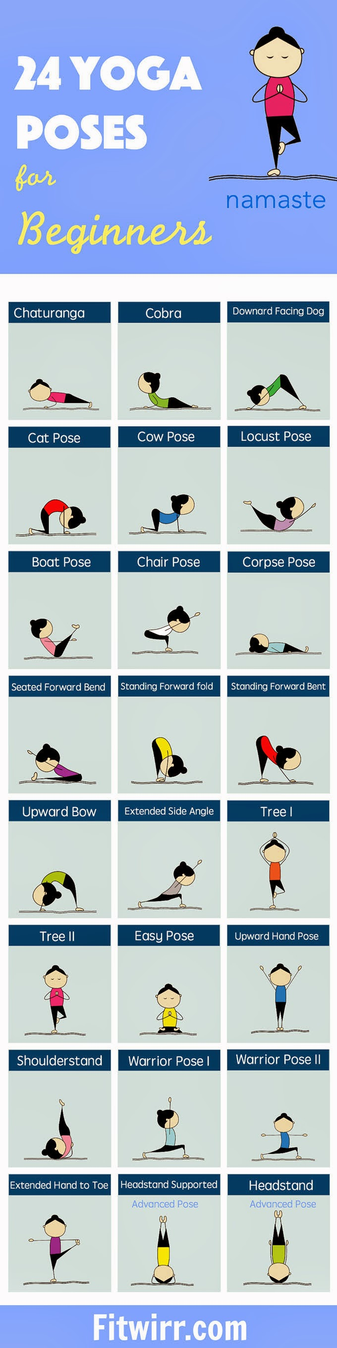 24 Yoga Poses for Beginners | Health Tips In Pics