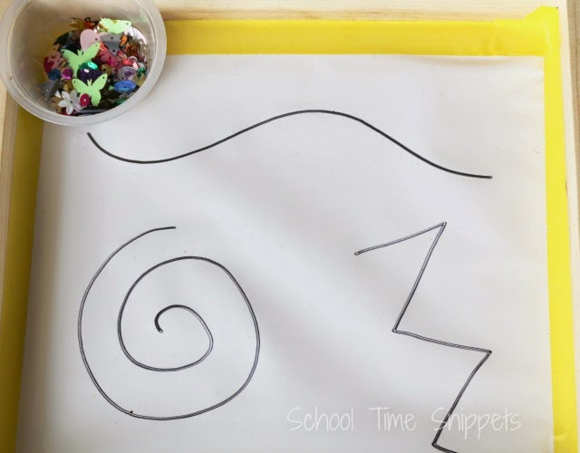 preschool pre-writing activity