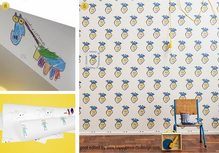 15 maneras creativas de regalar dibujos de niños: vinilos y papeles pintados