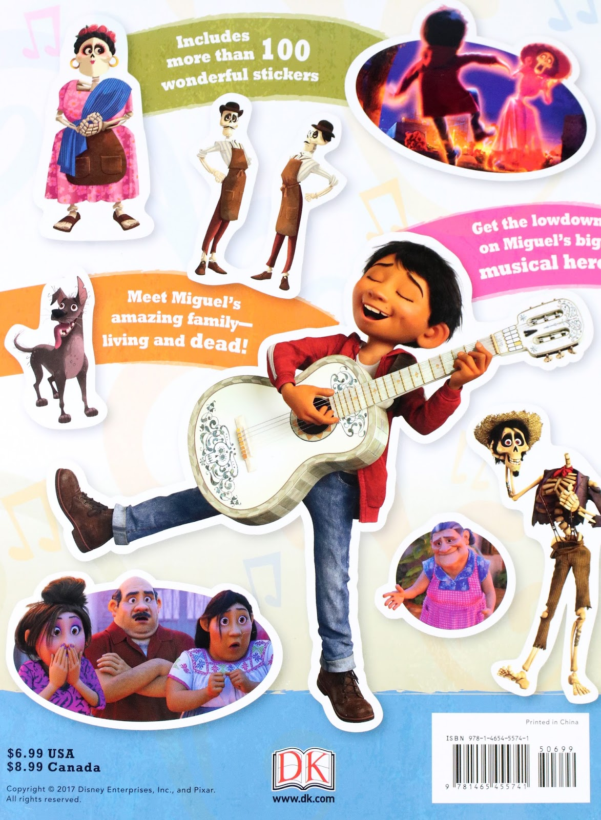 pixar coco ultimate sticker book inside review