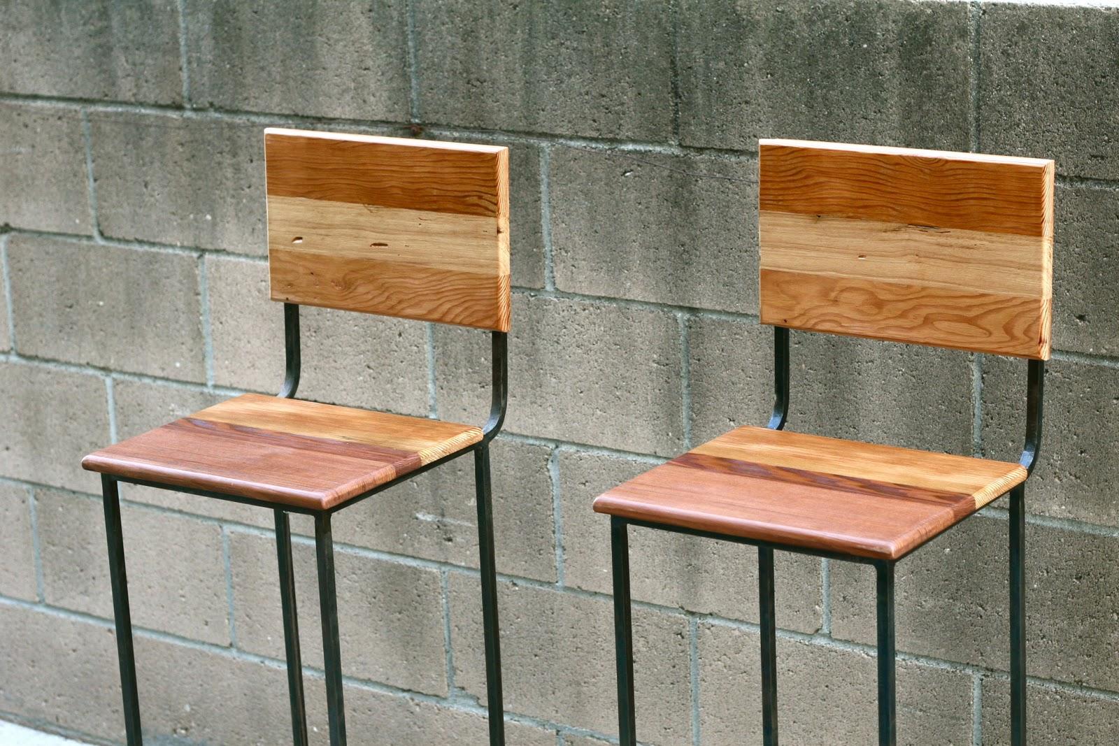 excellent wood metal furniture designs | Arbor Exchange | Reclaimed Wood Furniture: Metal Stools ...