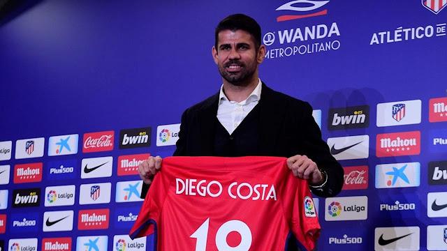 Diego Costa resmi bergabung dengan Atletico Madrid