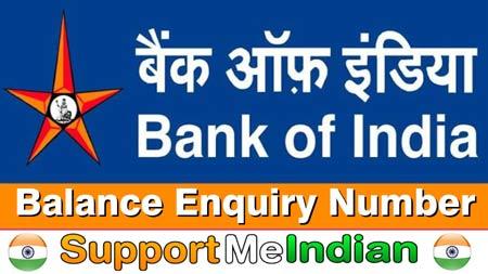 Bank Of India Balance Enquiry