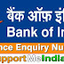 Bank Of India Balance Enquiry Number Missed Call