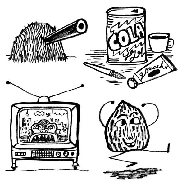 Calef Brown illustrates Bushman Lives! book   Illustration Soup