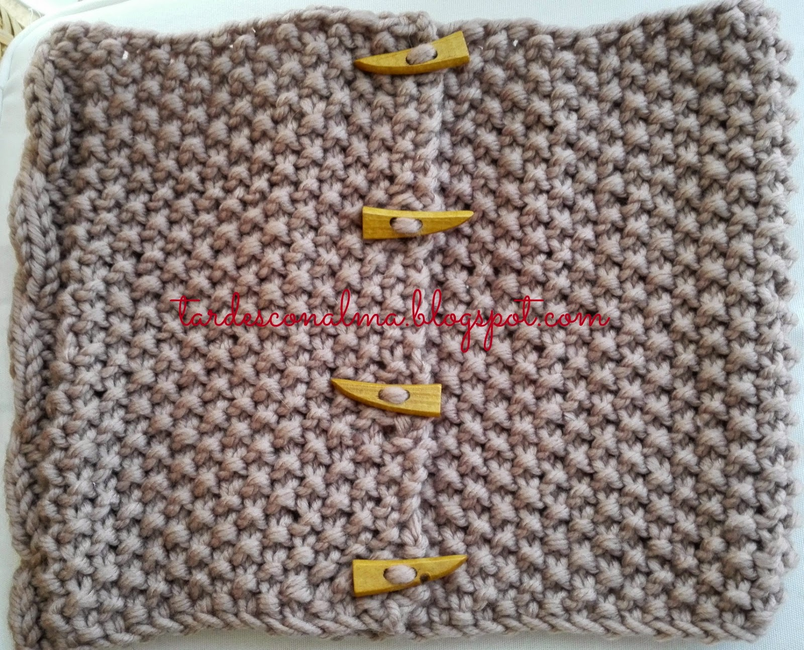 tardesconalma.blogspot.com tutorial DIY bufanda modelo Octo foto4