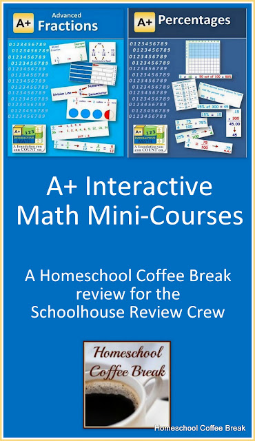 Math Mini-Courses to Close Learning Gaps (A Schoolhouse Crew Review of Math Mini-Courses from A+ Interactive Math) on Homeschool Coffee Break @ kympossibleblog.blogspot.com