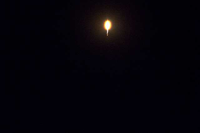 Falcon 9 after the VAFB launch, 300mm, 1/2500 second, T0 + 46 seconds (Source: Palmia Observatory)