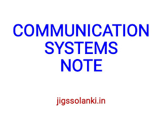 COMMUNICATIONS SYSTEMS NOTE